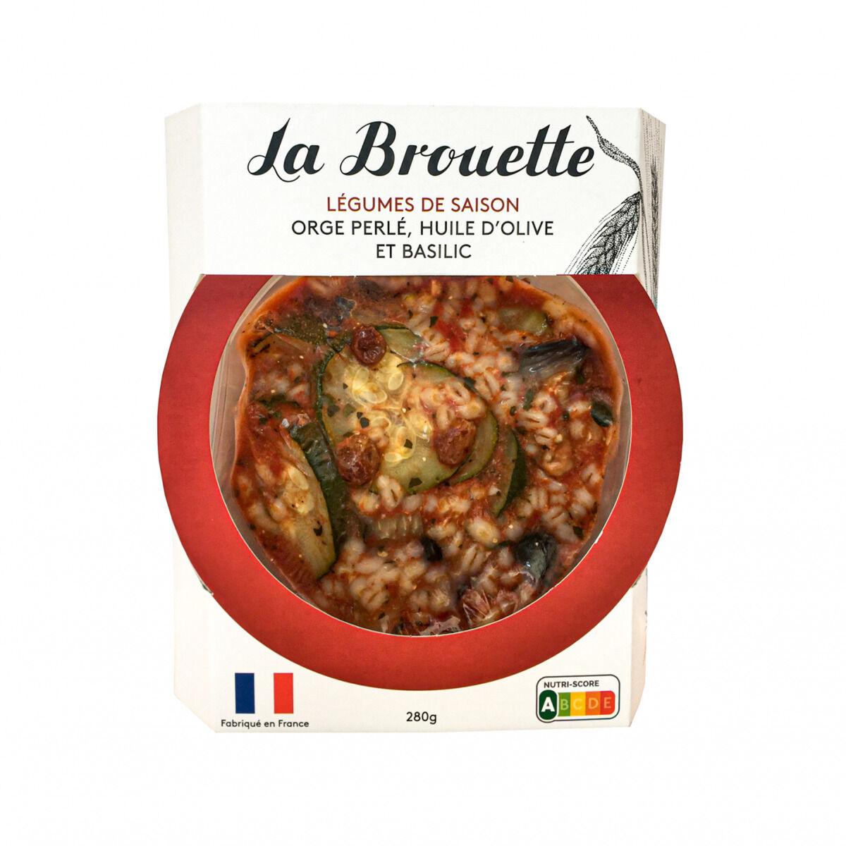 La Brouette Pour 1 Pers. - Légumes de saison orge perlé, huile d'olive et basilic - Convient aux végétariens