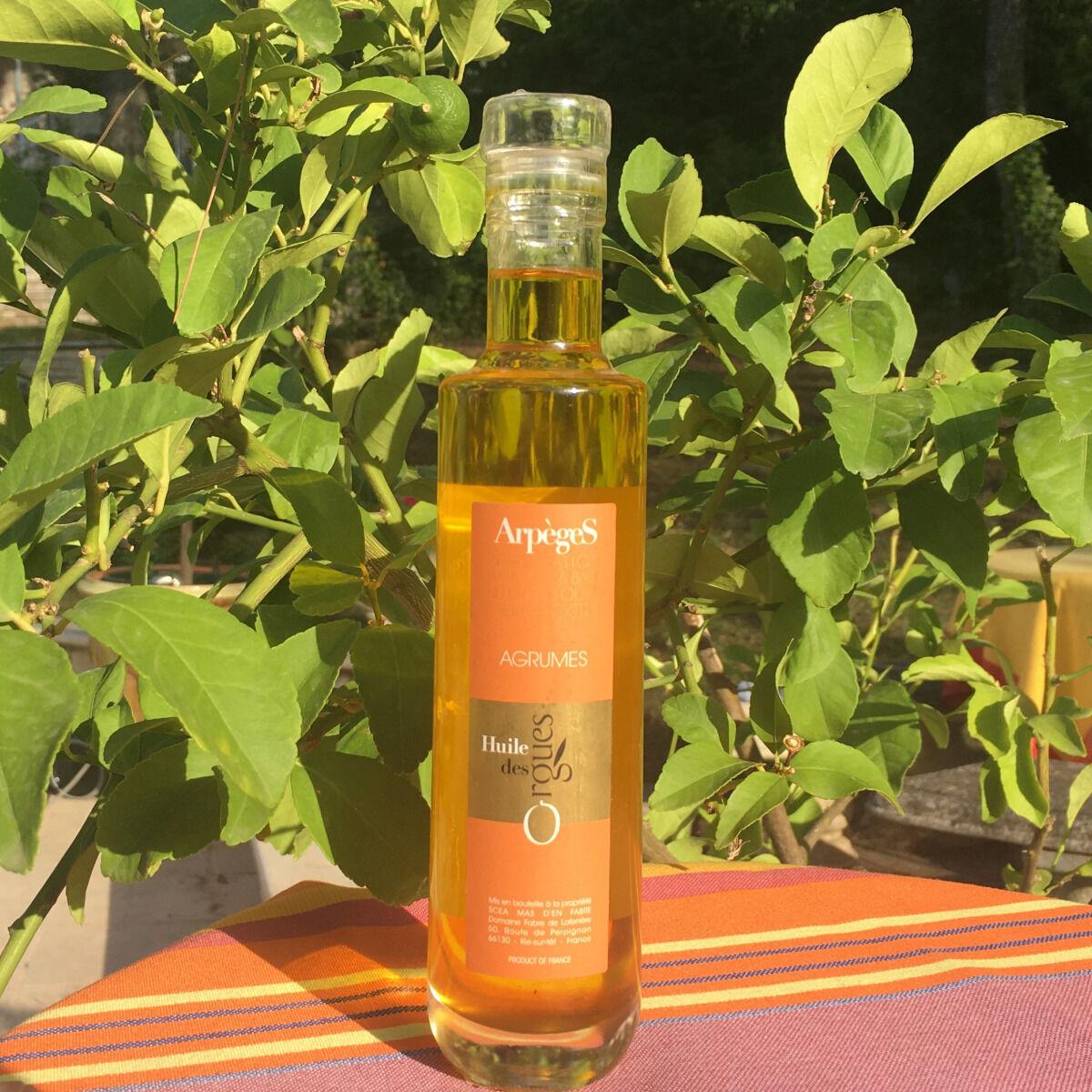 Huile des Orgues Huile d'Olive Parfumée aux Agrumes - 200 ml