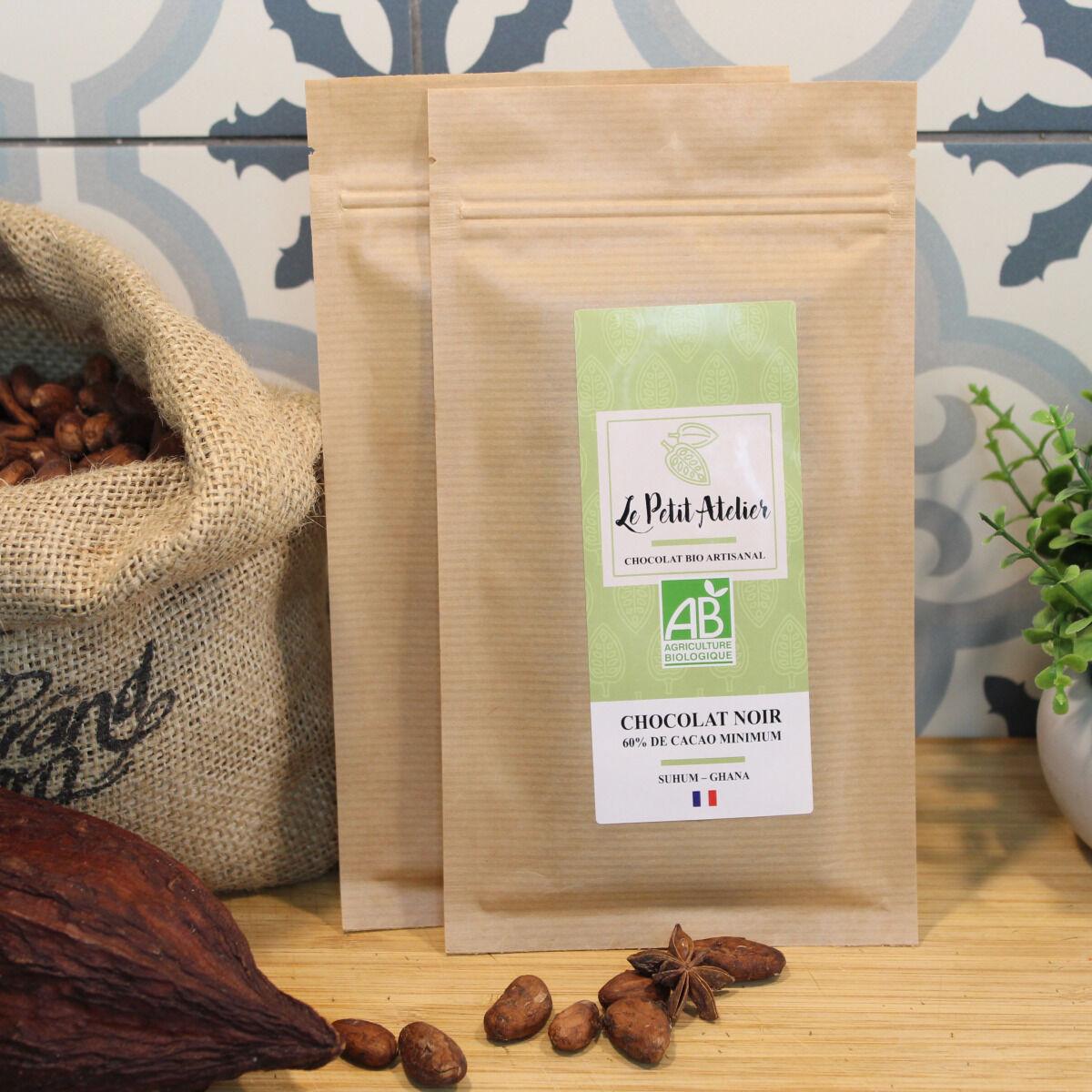 Le Petit Atelier Tablette Suhum Chocolat Noir 60% De Cacao Origine Ghana