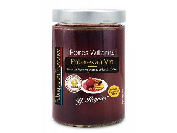Conserves Guintrand Poires Williams Entières Au Vin AOP Côtes du Ventoux - Y. Reynier - Bocal 580ml