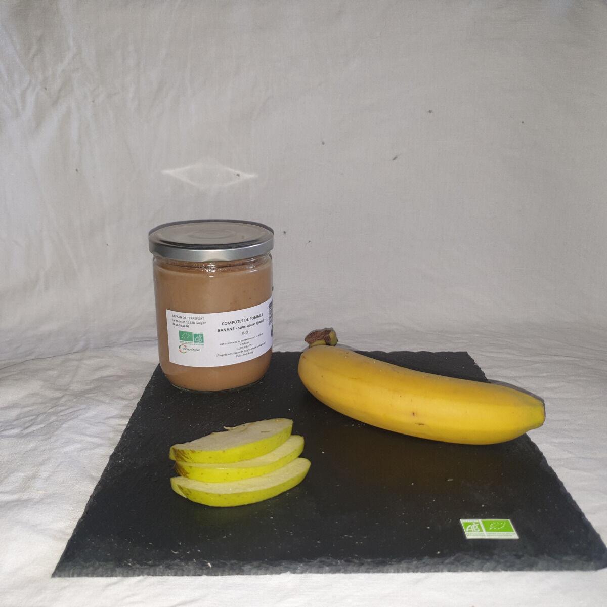 La Ferme du Montet Compote Pommes Banane sans sucre ajouté BIO - 420 g