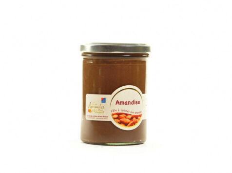 Les amandes et olives du Mont Bouquet Amandise 200g - pâte  à tartiner chocolat amandes