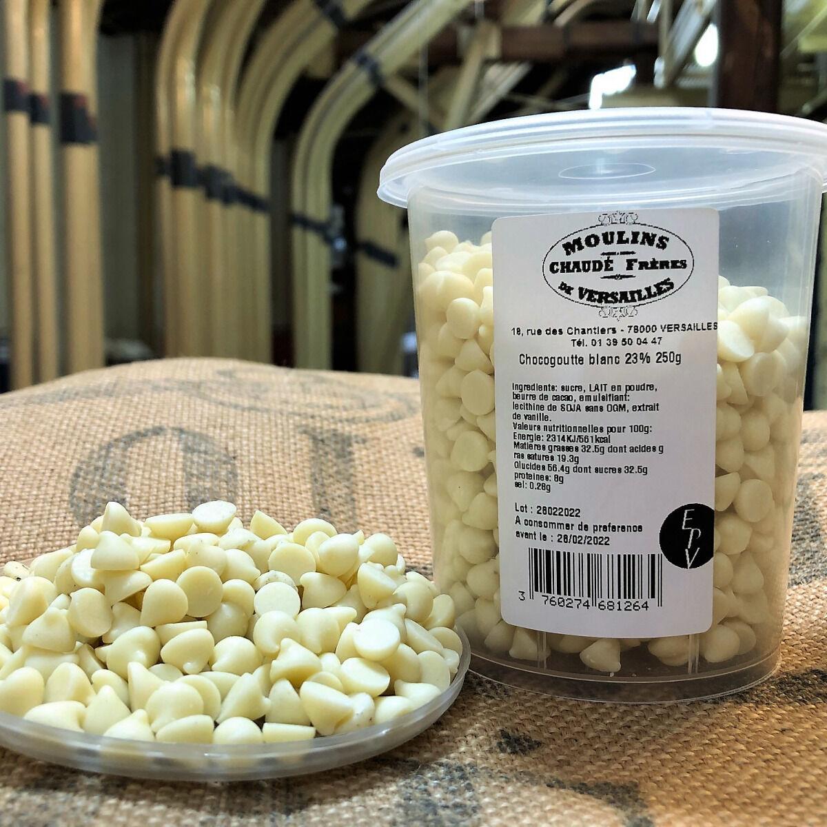 Moulins de Versailles Chocogouttes Chocolat Blanc 23% - 250g