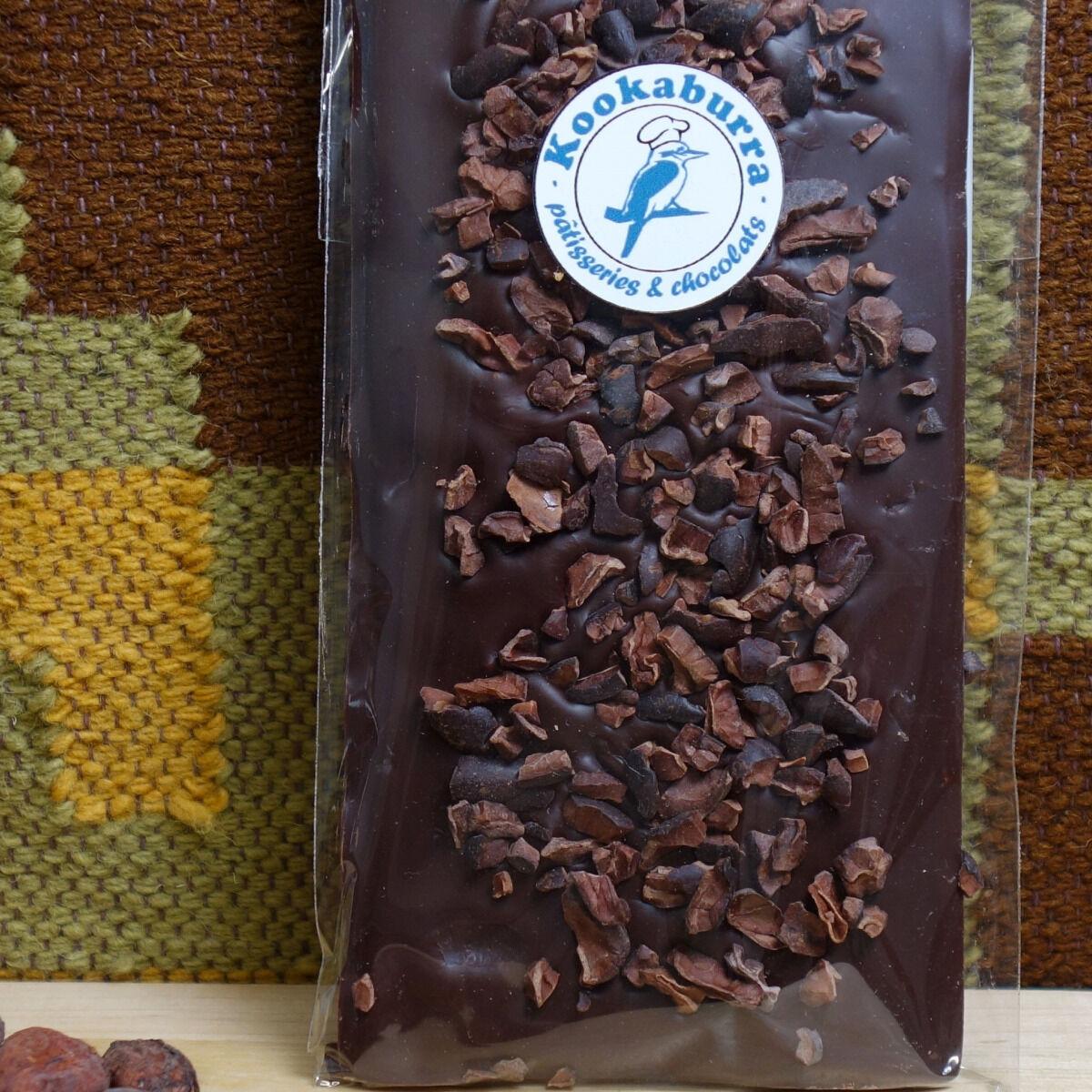 Pâtisserie Kookaburra Tablette Chocolat Noir 70% & Grué