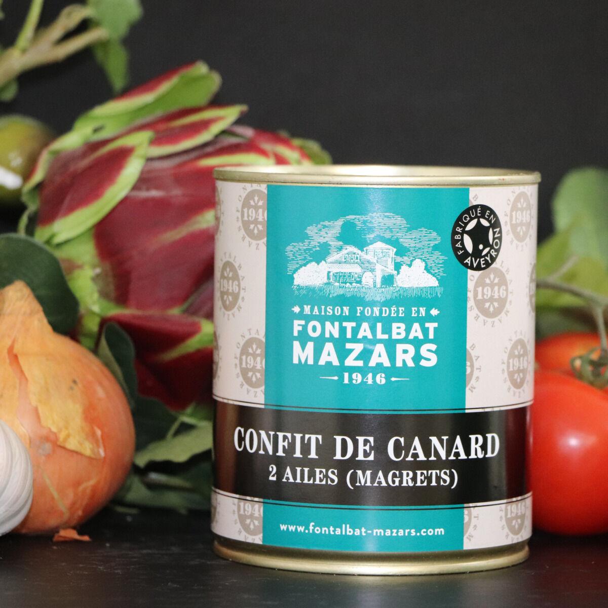 Fontalbat Mazars Confit de canard boite 2 ailes