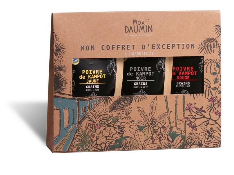 Epices Max Daumin Coffret Poivres - Trilogie De Kampot (noir, Jaune, Rouge Bio & Igp)