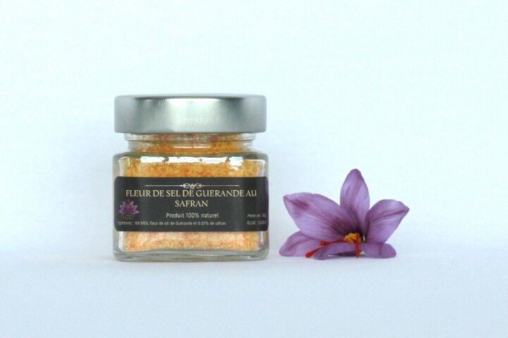 Le safran - l'or rouge des Ardennes Fleur De Sel De Guérande Au Safran En 80 G
