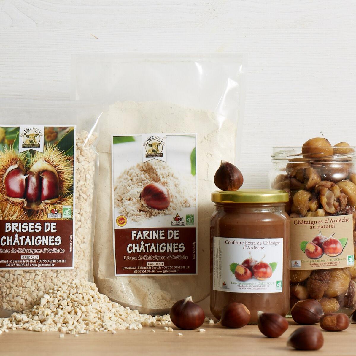 GAEC Roux Coffret Châtaignes d'Ardèche - 4 produits