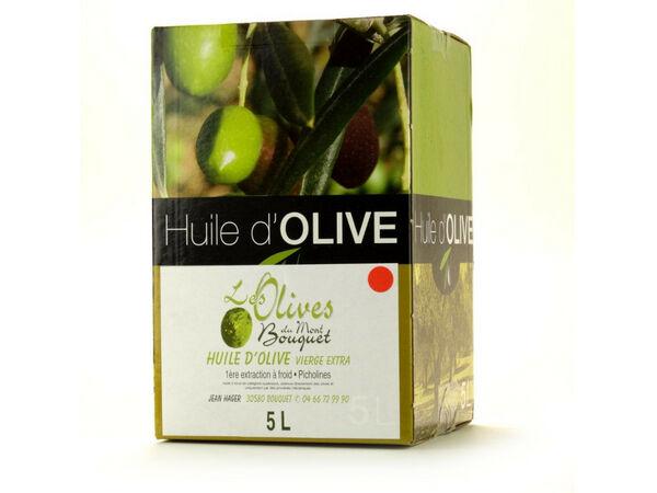 Les amandes et olives du Mont Bouquet Huile d'olive Picholine 5 litres