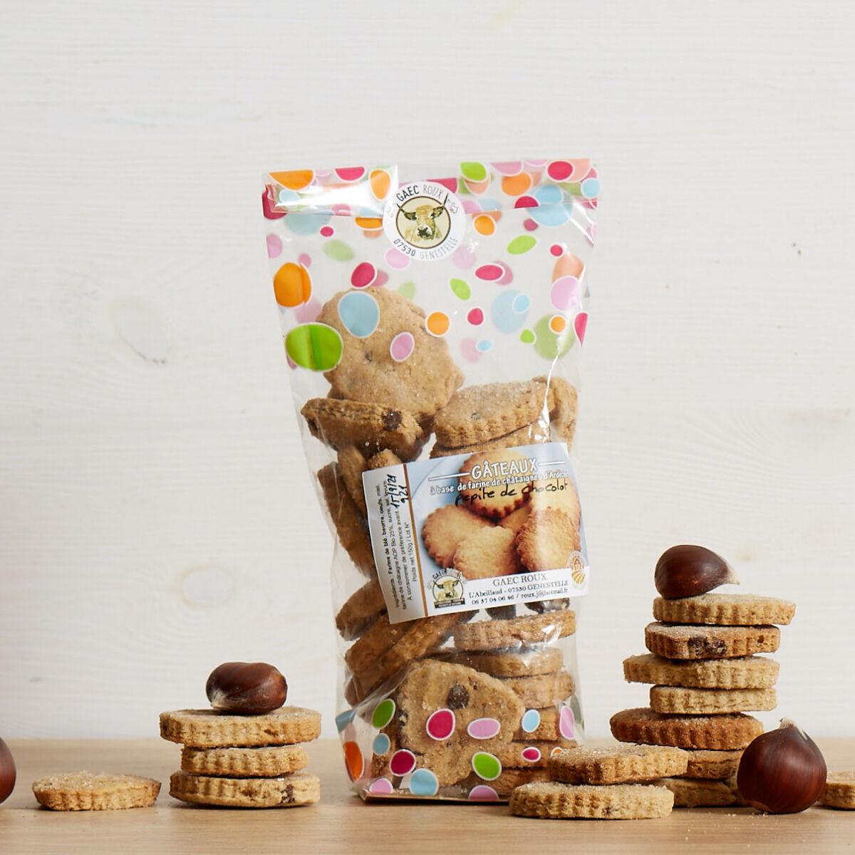 GAEC Roux Biscuits à base de farine de châtaignes et miel de châtaignier - 150 g