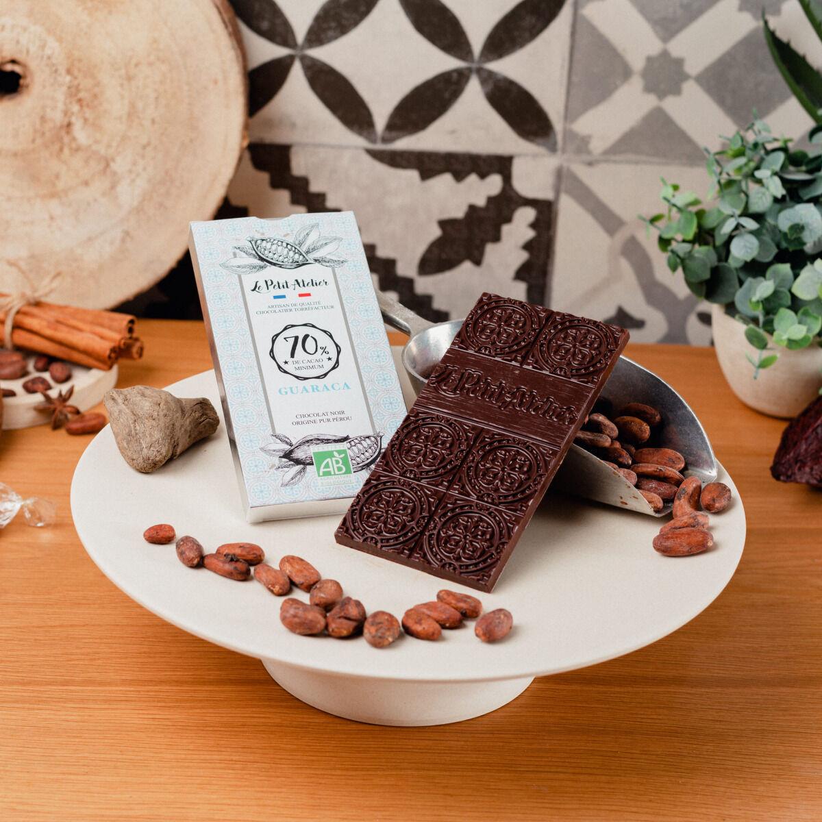 Le Petit Atelier Tablette De Chocolat Noir Bio 70% Guaraca