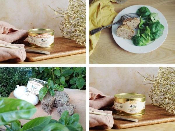 Ferme Caussanel Petit Lot des Causses : Rillettes Natures et Pistou, Pâté de Foie Gras aux Figues, Terrine au Cognac