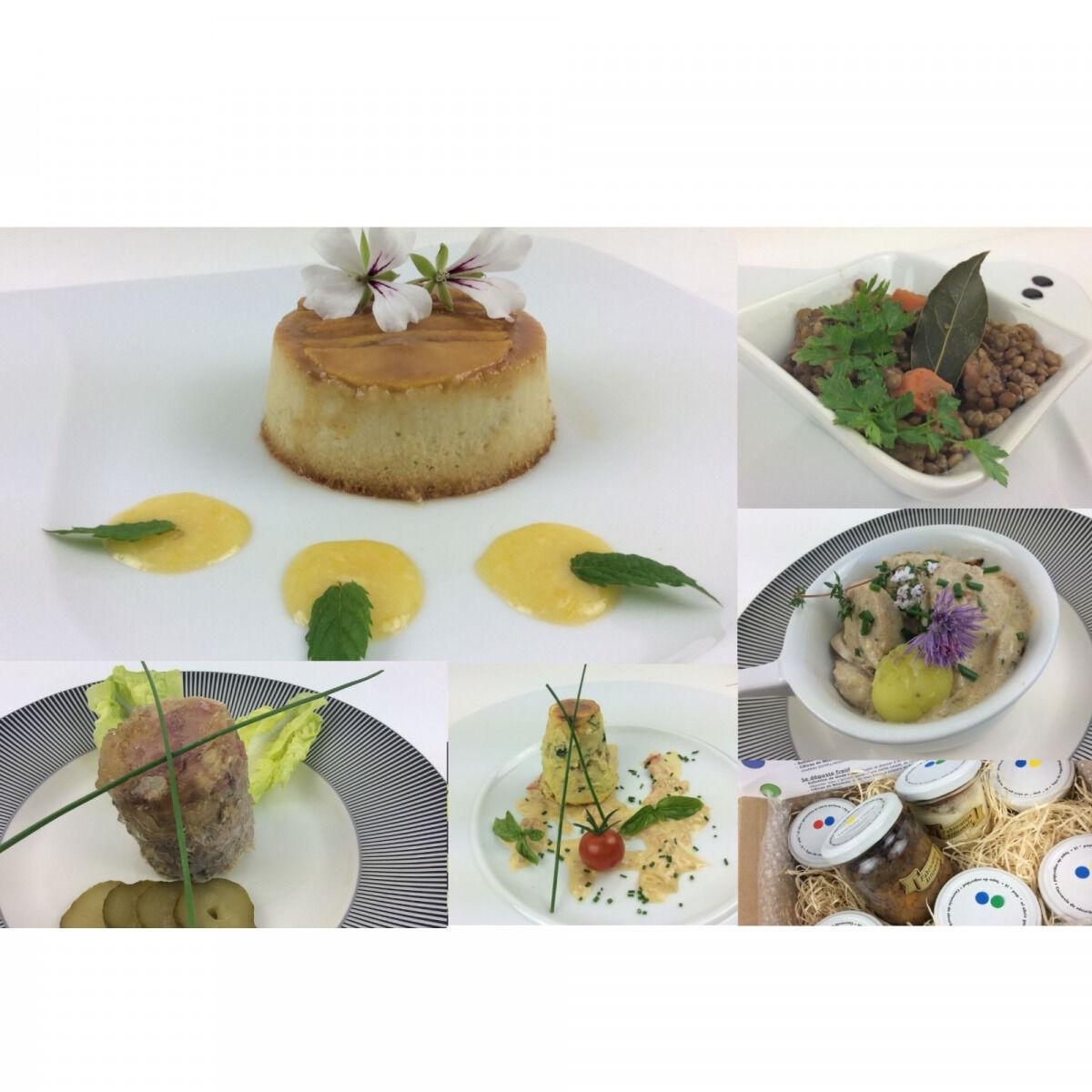 Christian Piot - Votre chef en ligne Panier Repas Saveurs Champenoises 5 créations pour 4 personnes