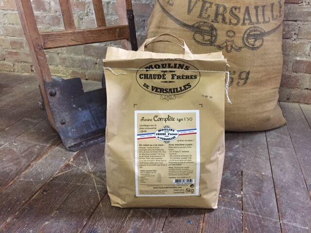 Moulins de Versailles Farine De Blé Complète T150 5kg