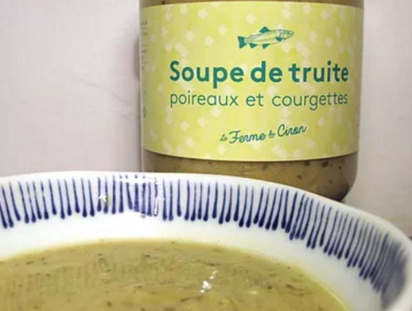 La Ferme du Ciron Soupe De Truite Poireaux Courgettes