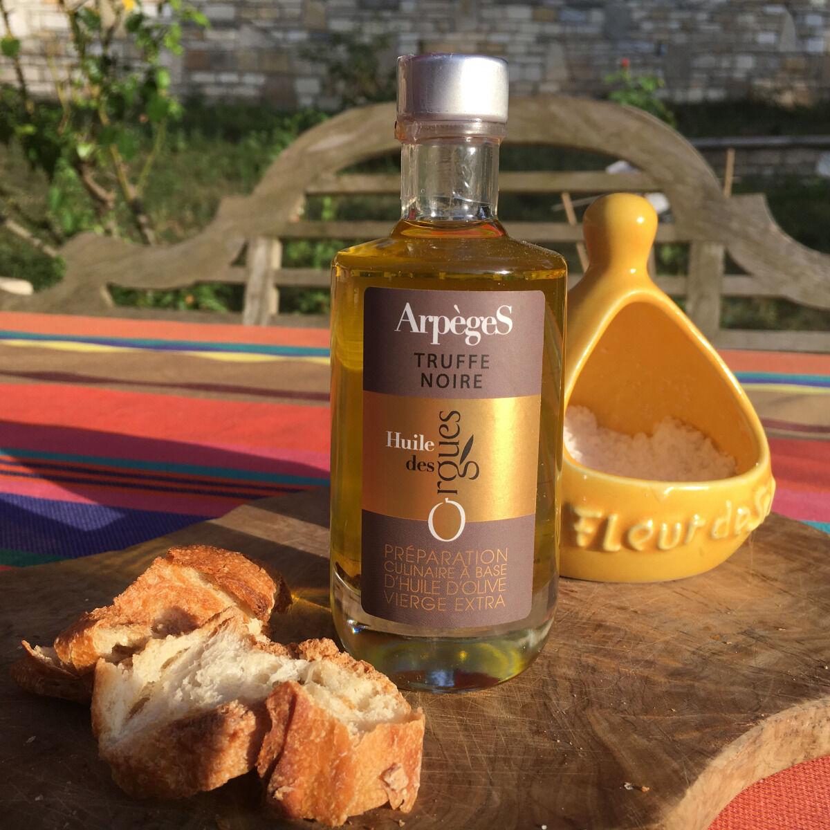 Huile des Orgues Huile d'Olive Parfumée aux Truffes Noires - 100 ml
