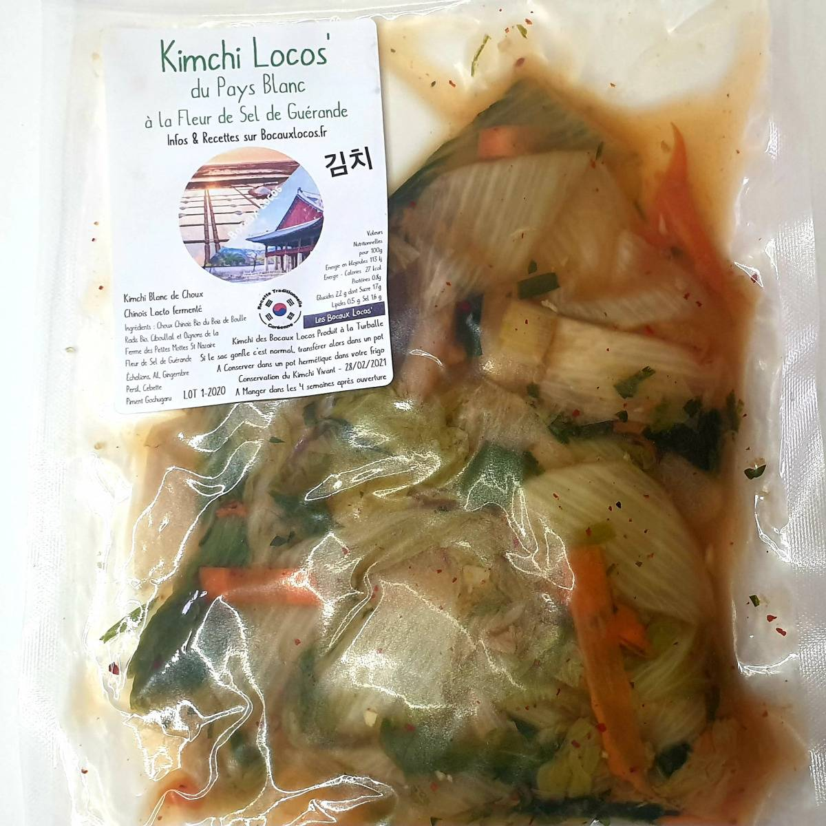 Ferme du Bois de Boulle Kimchi du Pays Blanc à la Fleur de Sel de Guerande 500g