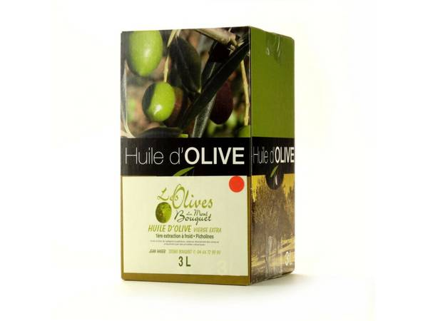 Les amandes et olives du Mont Bouquet Huile d'olive Picholine 3 litres