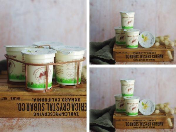 Ferme Chambon Panier Yaourts au lait cru de vache saveur Vanille x12