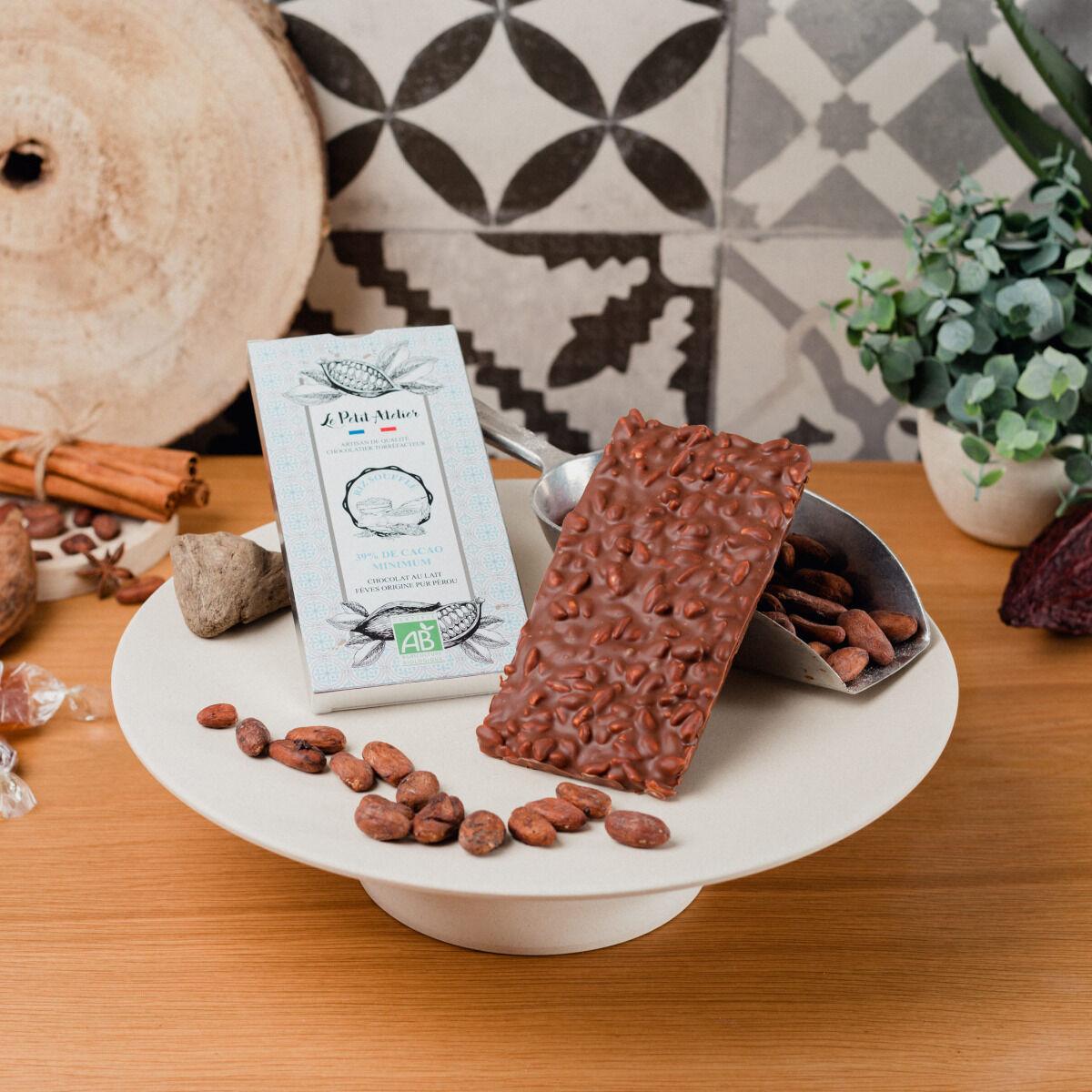 Le Petit Atelier Tablette De Chocolat Au Lait Bio Au Riz Soufflé