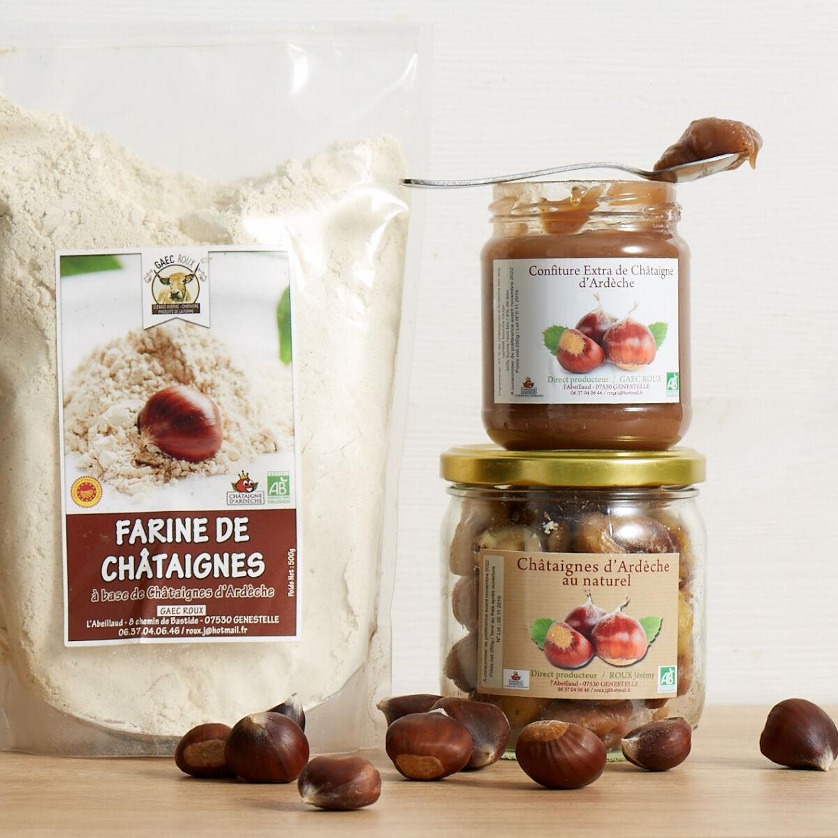 GAEC Roux Coffret Châtaignes d'Ardèche - 3 produits