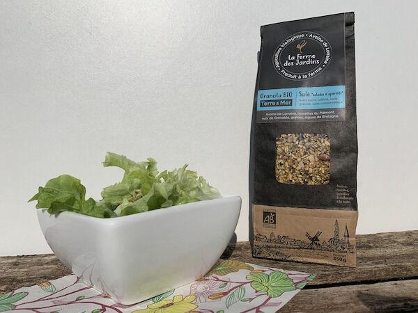 Ferme des Jardins Granola Bio Salé Terre Et Mer : Noisette, Graines Et Laitue De Mer De Roscoff