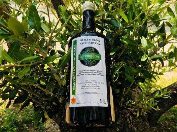 Spiruline des Oliviers Huile D'olive Vierge Extra Aop Aix-en-Provence 1L
