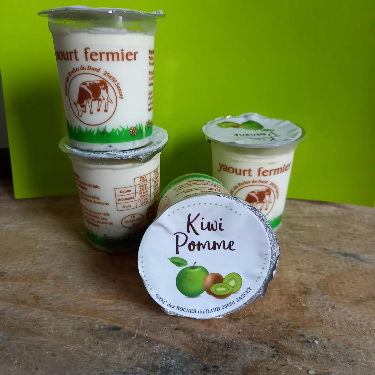 Ferme Chambon Yaourts Au Lait Cru Et Aux Fruits (pomme-kiwi) X4