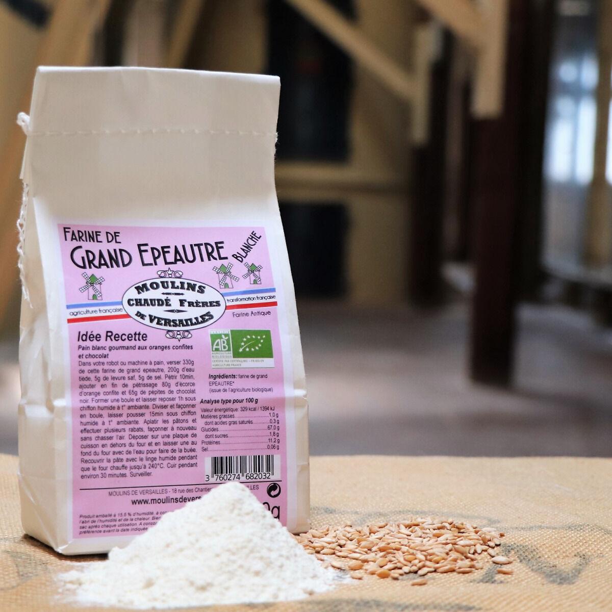 Moulins de Versailles Farine De Grand Epeautre Blanche Bio - 500g