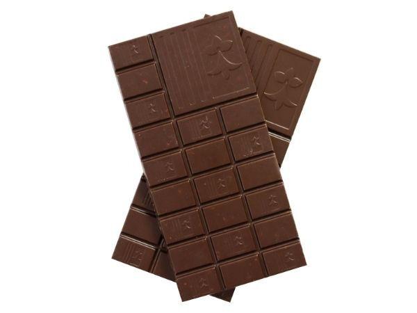 Maison Le Roux Tablette Chocolat Noir Goviro : Fleur de Sel, Amande Caramélisée & Crêpe Dentelle