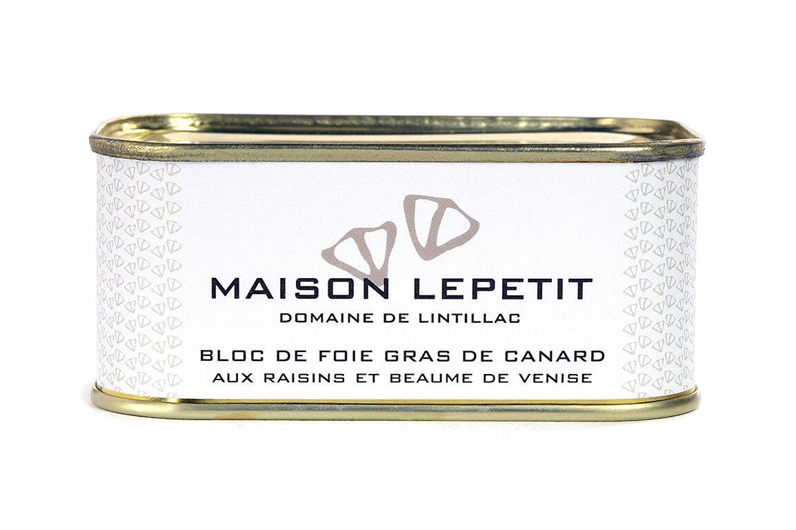 Maison Lepetit Bloc De Foie Gras Aux Raisins Et Beaumes De Venise