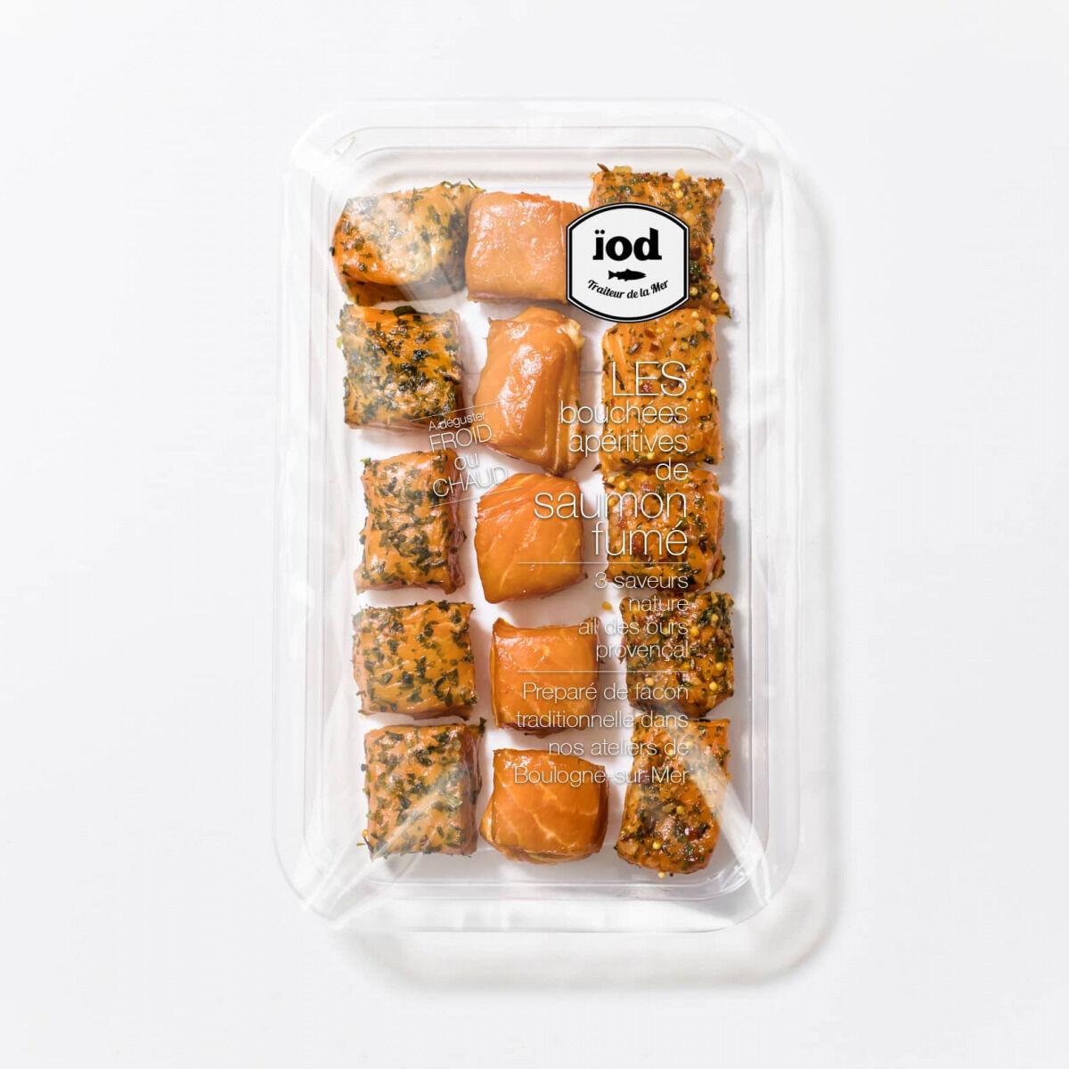 ÏOD Bouchées Apéritives de saumon fumé aux 3 saveurs