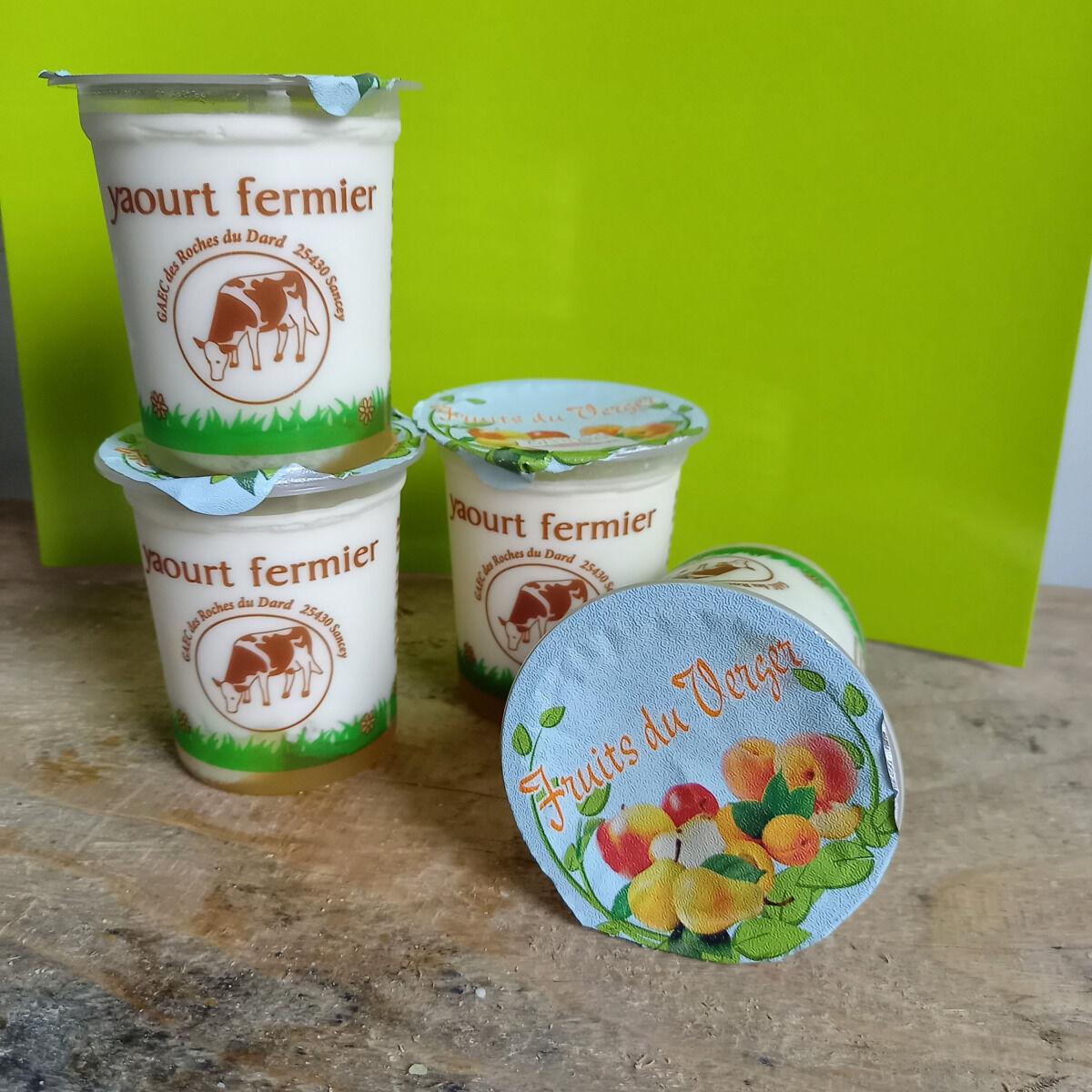 Ferme Chambon Yaourts Au Lait Cru Et Aux Fruits (fruits Du Verger) X4