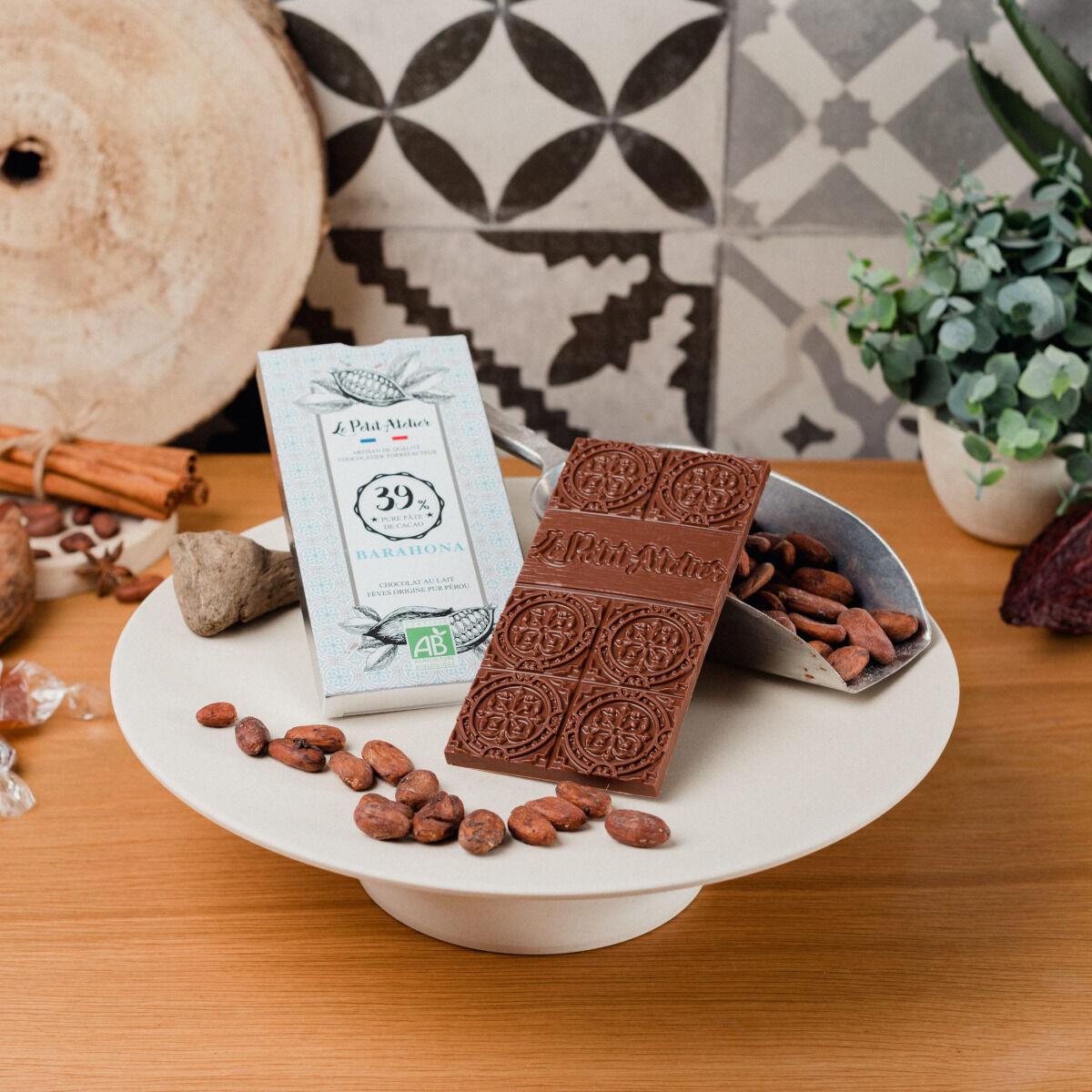 Le Petit Atelier Tablette De Chocolat Au Lait Bio Barahona 39%