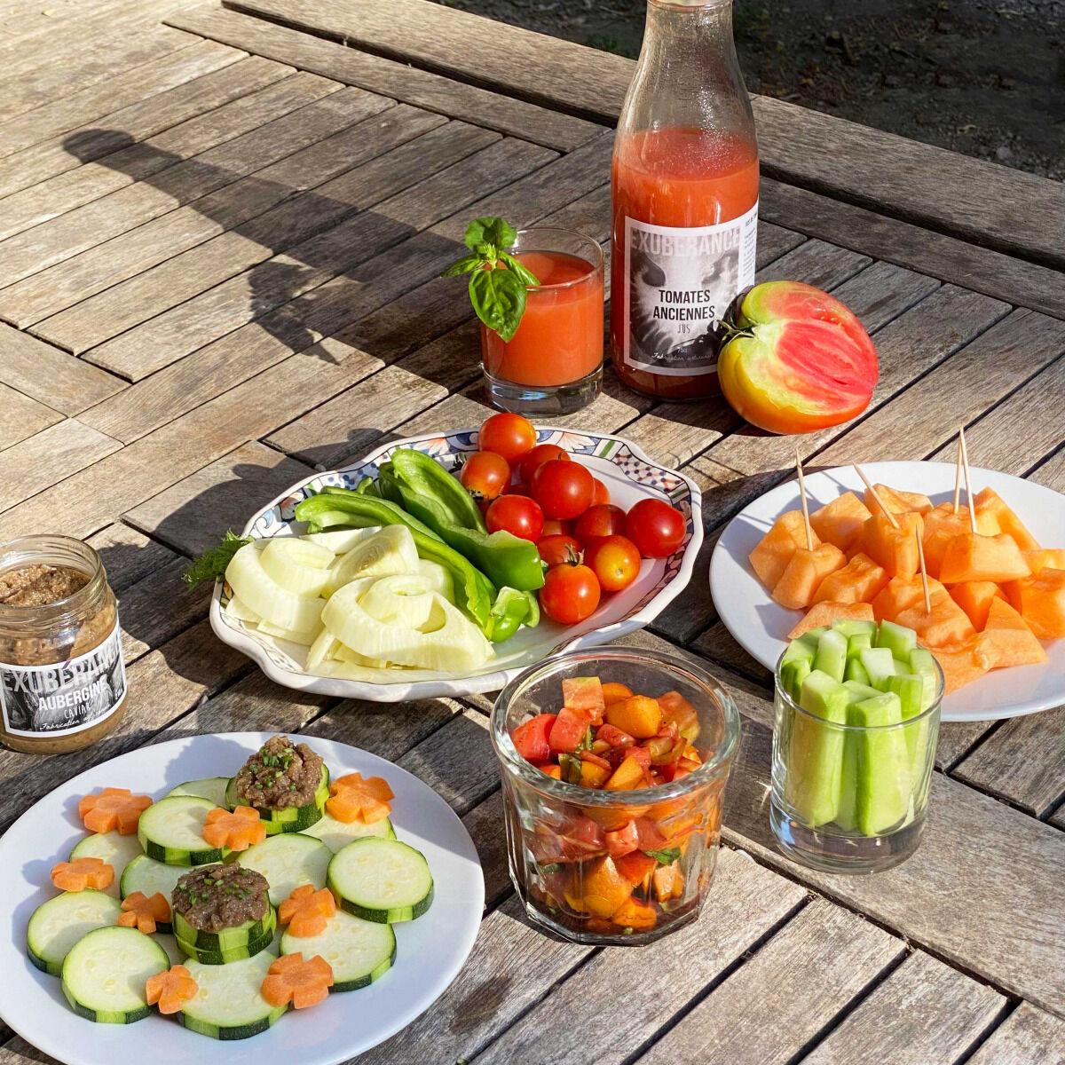 La Boite à Herbes Panier Apéro : fruits et légumes