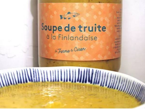 La Ferme du Ciron Soupe De Truite Finlandaise