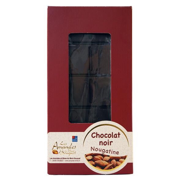 Les amandes et olives du Mont Bouquet Tablette de Chocolat Noir Nougatine