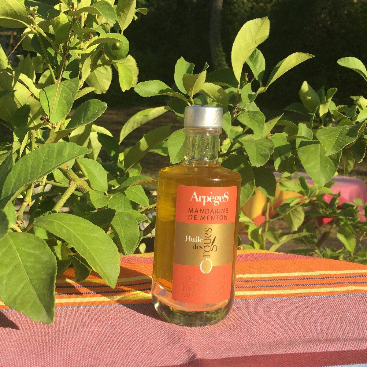 Huile des Orgues Huile d'Olive Parfumée à la Mandarine de Menton - 100 ml