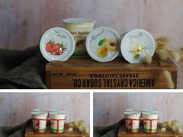 Ferme Chambon Yaourts au Lait Cru de Vache parfums panachés: Natures x3, Vanille x3, Abricot x3, Fraise x3