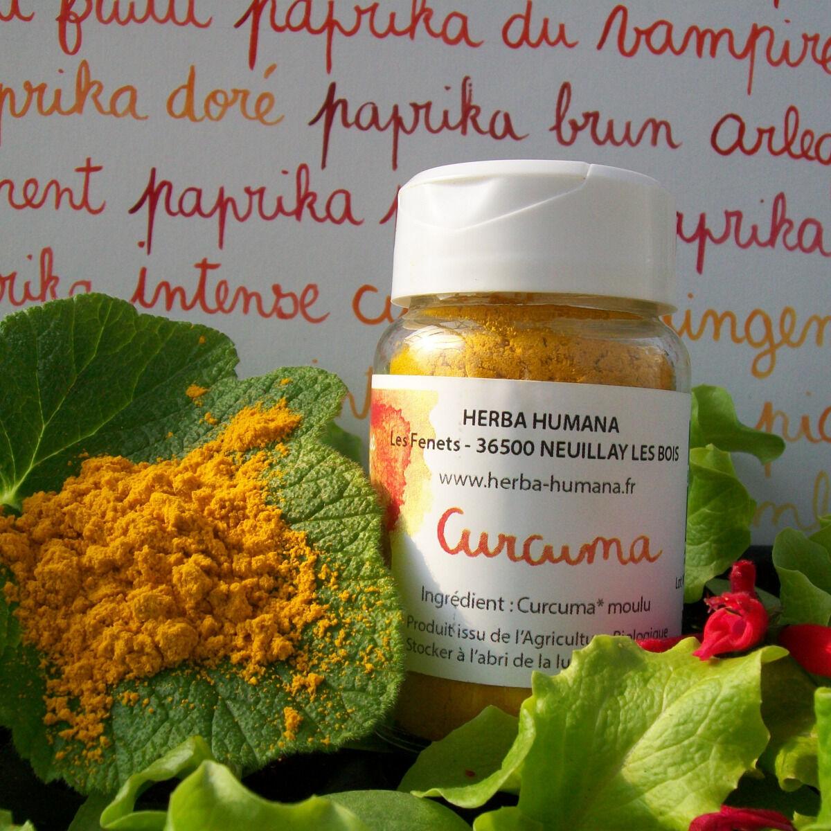 HERBA HUMANA Curcuma Bio Cultivé en France 25 g