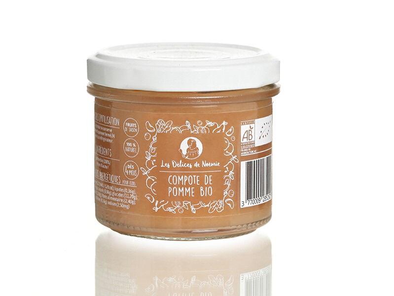Les délices de Noémie Lot de 6 Compotes de Pomme Bio pour Bébé dès 4 mois