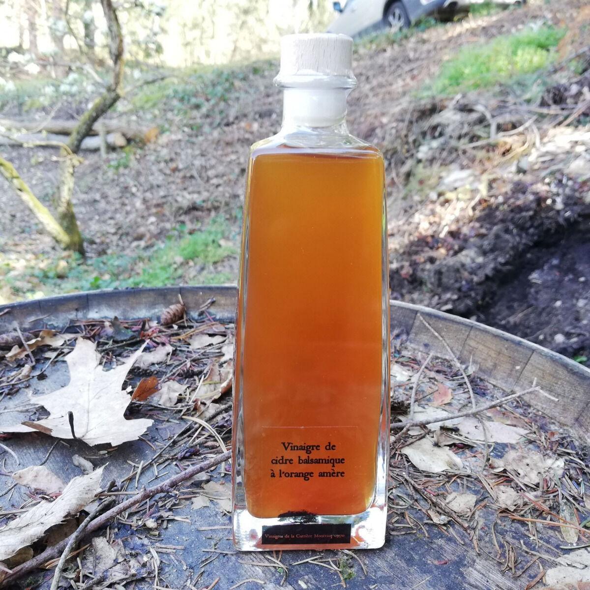 Vinaigres de la Carrière Vinaigre de Cidre Balsamique à l'Orange Amère bio  - 500 ml