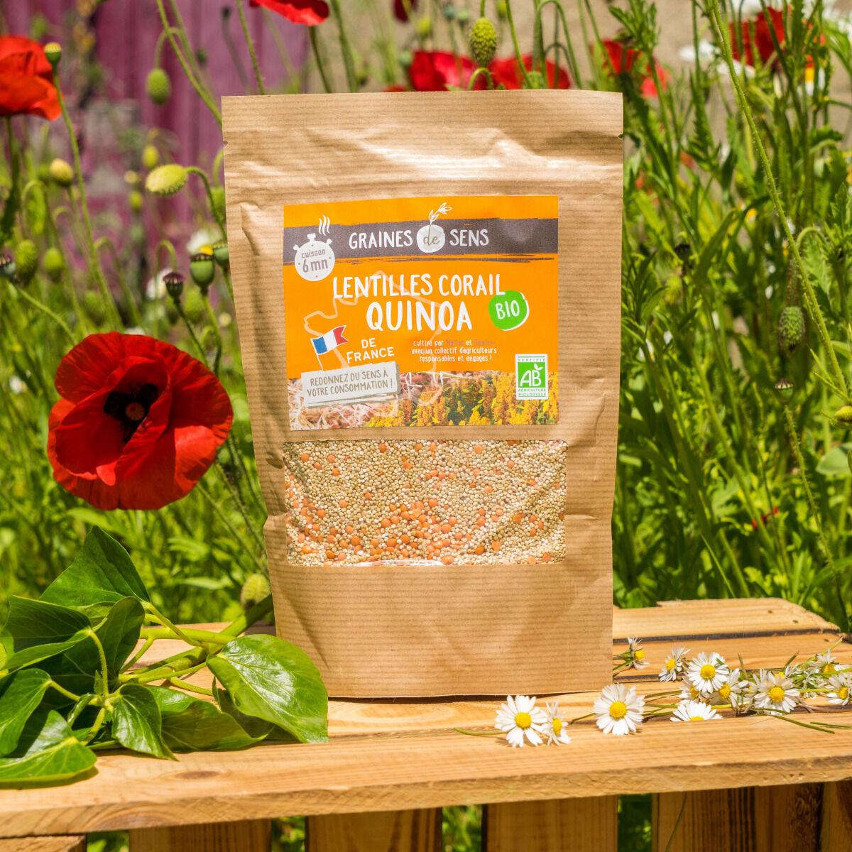 Sa Majesté la Graine Mélange Quinoa/lentilles Corail Bio De France