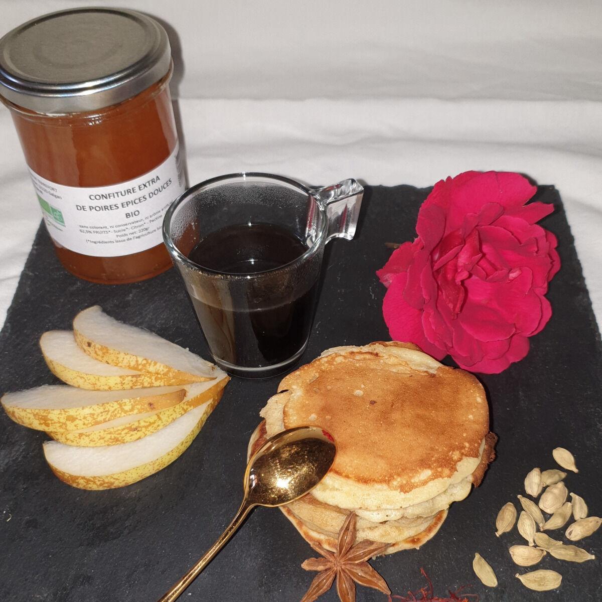 La Ferme du Montet Confiture Extra de poires épices douces BIO - 220 g