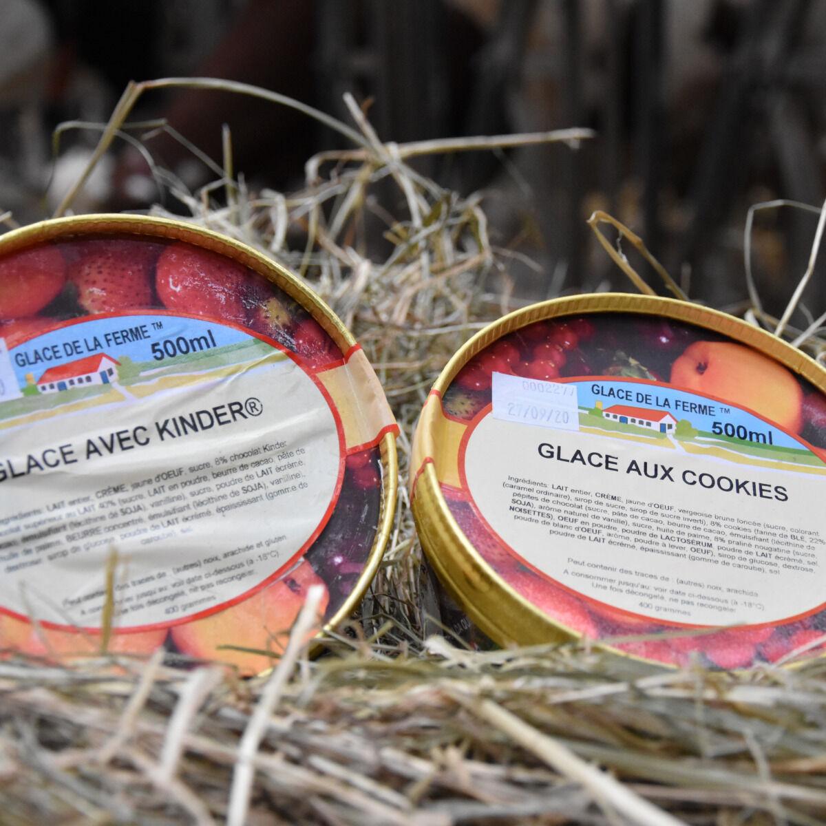 Les Glaces de la Promesse Glace Avec Kinder Et Glace Aux Cookies  2x 500 Ml