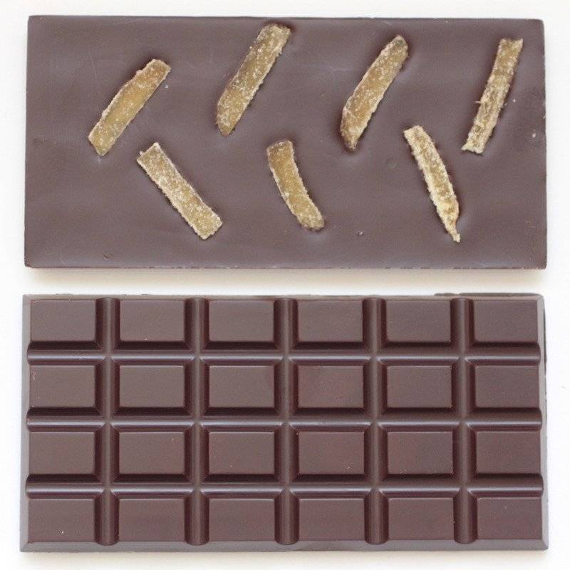 Mon jardin chocolaté Ma Tablette Bio Au Gingembre