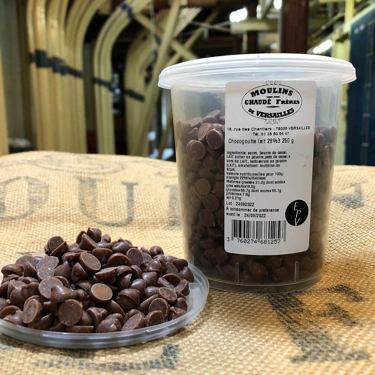 Moulins de Versailles Chocogouttes Chocolat Au Lait 28% - 250g