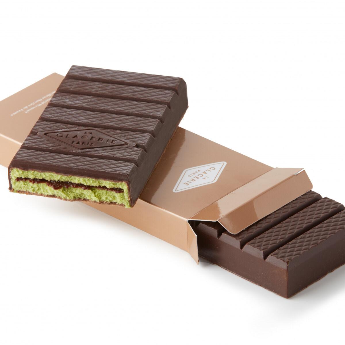 La Glacerie par David Wesmaël - Meilleur Ouvrier de France Glacier Tablette Glacée Chocolat Noir, Matcha & Muroise
