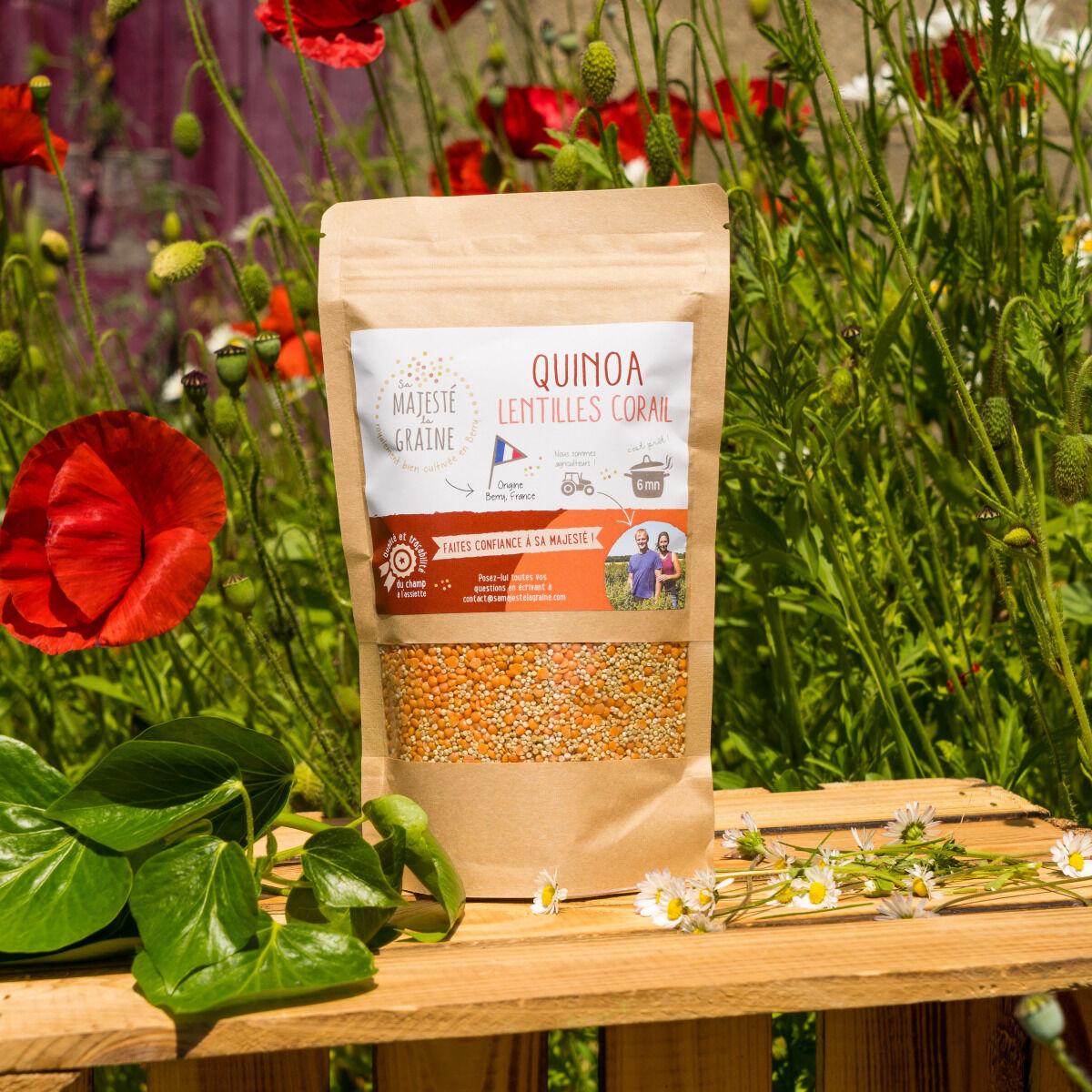 Sa Majesté la Graine Mélange Quinoa/lentilles Corail Origine France (berry) - 350 G