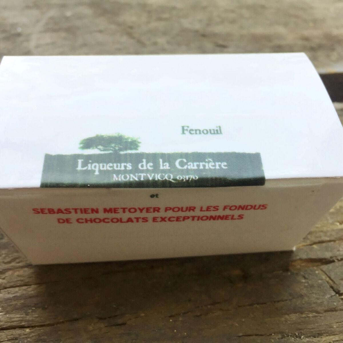 Vinaigres de la Carrière Chocolats au Fenouil - 5 pièces